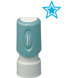 "Shachihata. U.S.A. Specialty Stamp, "" Star"" in Light Blue"