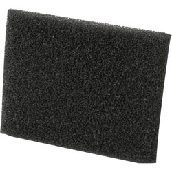 Shop Vac Filter, Small Foam Sleeve, Black