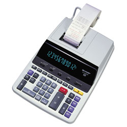 Sharp EL2630PIII Two Color Printing Calculator, Twelve Digit Fluorescent Display