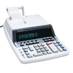 Sharp QS2760H Two Color Commercial Ribbon Printing Calculator, Twelve Digit, Tax/Margin