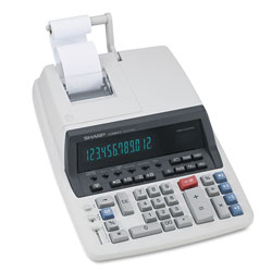 Sharp QS2770H Two Color Commercial Printing Calculator, Twelve Digit, Tax/Margin Functions