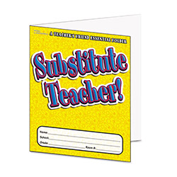 Scholastic Substitute Teacher Essential Folder, Pre K - 6, Laminated
