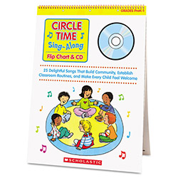 Scholastic Circle Time Sing Along Flip Chart w/CD, 26 Pages, Grades PreK-1