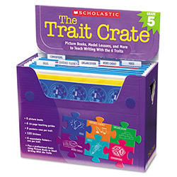 Scholastic Trait Crate, Grade 5, 7 Books, Posters, Folders, Transparencies, Stickers