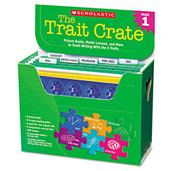 Scholastic Trait Crate, Grade 1, 6 Books, Learning Guide, Cd, More