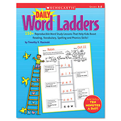 Scholastic Daily Word Ladders, 176 Pages, Grades 1-2