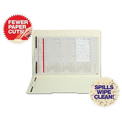 S And J Paper / Gussco Folders with 2 Fasteners, Legal, Straight Cut, 50/Box
