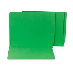 S And J Paper / Gussco End Tab File Folder, Letter Size, Green
