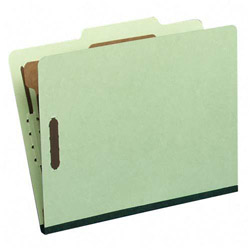 "S And J Paper / Gussco Standard Classification Folder, 4 Section, 1 1/2"" Exp, Letter, 20/BX, Green"