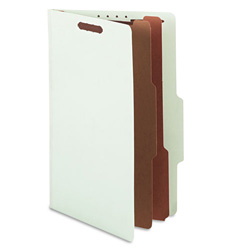 "S And J Paper / Gussco Standard Classification Folder, 6 Section, 2 1/4"" Exp, Legal, 15/BX, Pale Green"