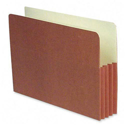 "S And J Paper / Gussco Redrope Recycled 3 1/2"" Expanding File Pocket, Legal Size, 50/Box"