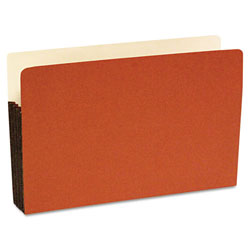 S And J Paper / Gussco Standard File Pocket, 5 1/4 Inch Expansion, 14 3/4 x 9 1/2, Legal, Red