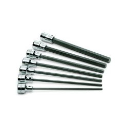 "S K Hand Tools 7 Piece 3/8"" Drive SAE Long Hex Bit Socket Set"
