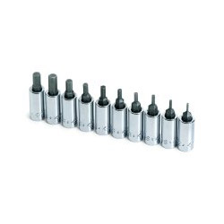 "S K Hand Tools 10 Piece 1/4"" Drive Hex Bit Socket Set 1/16 1/4"""