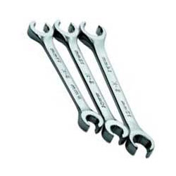S K Hand Tools 3 Piece Metric Hi Polish Flare Nut Wrench Set