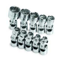 "S K Hand Tools 10 Piece 1/4"" Drive SAE Standard 12 Point Flex Socket Set"