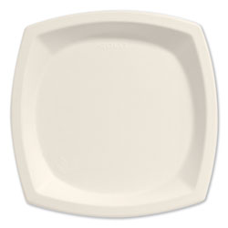 "Solo Bare Eco-Forward Dinnerware, 10"" Plate, Ivory, 125/Pack"