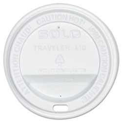 Solo Traveler Cup Lids for 10 Oz Cups, White