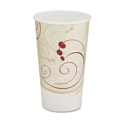 Solo Hot Cups, Symphony Design, 16oz, Beige, 1000/Carton