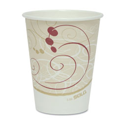 Solo 8 Oz Hot Paper Cups, Symphony Design, Pack of 50