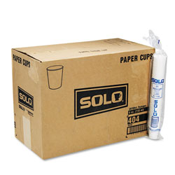 Solo 4 Oz Cold Paper Cups, White, Case of 5000