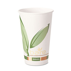 Solo 20 Oz Hot Paper Cups, Leaf Design, Pack of 600
