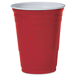 Solo 16 Oz Cold Plastic Cups, Red, Pack of 1000