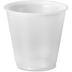 Solo 3.5 Oz Cold Plastic Cups, Translucent, Pack of 100