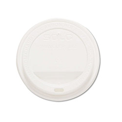 Solo TLP20 White Drink-Thru Lids for 20 Ounce Hot Cups