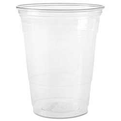 Solo 10 Oz Cold Plastic Cups, Clear, Case of 1000