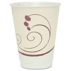 Solo Symphony Design Trophy Foam Hot/Cold Drink Cups, 12 oz., Beige, 100/Pack