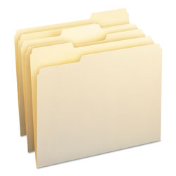 Smead Manila File Folders, Single Ply Top, 1/3 Cut/Assorted, Letter, 100/Box