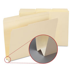 "Smead Recycled Heavyweight File Folders, 1 1/2"" Exp., 1/3 Cut, Letter, 50/Bx"