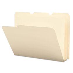 Smead Poly File Folders, Letter Size, 1/3 Cut, Manila Colored, 12 Per Pack