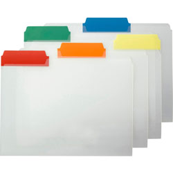 "Smead File Folder, Letter, 1/3"", Poly Color Tabs, 25/Box, Assorted"