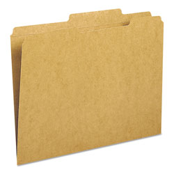Smead Double Ply Top Heavyweight Kraft Folder, 2/5 Cut Rght of Center, Letter, 100/Bx