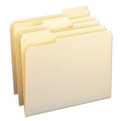 Smead File Folders, 1/3 Cut Assorted, One-Ply Top Tab, Letter, Manila, 24/Pack