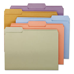Smead File Folders, Single Ply Top, 1/3 Cut, Assorted Colors, Letter, 100/Box