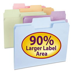 Smead Recycled Supertab Top Tab Colored File Folders, Letter Size