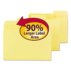 Smead Colored File Folders, 1/3 Cut, 11 Pt. Stock, Letter, Yellow
