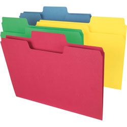 Smead Folders, 11pt, 1/3 Cut, Legal, Pastel Assorted