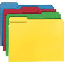 Smead File Folder,1/3 Tab Cut, Letter,100/BX, Assorted