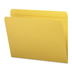 Smead Top Tab File Folders, Double Ply Top, Straight Cut, Letter, Goldenrod, 100/Box