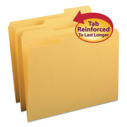 Smead Top Tab File Folders, Double Ply Top, 1/3 Cut, Letter, Goldenrod, 100/Box