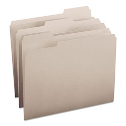 Smead File Folders, Single Ply Top, 1/3 Cut, Letter, Gray, 100/Box