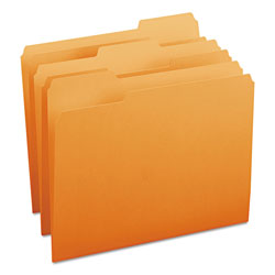 Smead File Folders, Single Ply Top, 1/3 Cut, Letter, Orange, 100/Box