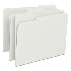 Smead File Folders, Single Ply Top, 1/3 Cut, Letter, White, 100/Box