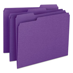 Smead File Folders, Single Ply Top, 1/3 Cut, Letter, Purple, 100/Box