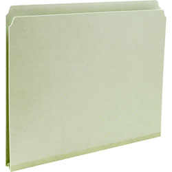 Smead Pressboard File Folders, Top Tab, Letter, Straight Cut, Gray Green, 25/Bx