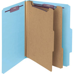 "Smead Classification Folder w/SF, Letter, 2"" Expansion Blue"